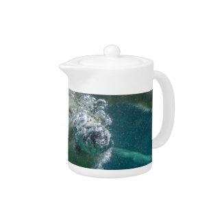 Polar bear underwater teapot