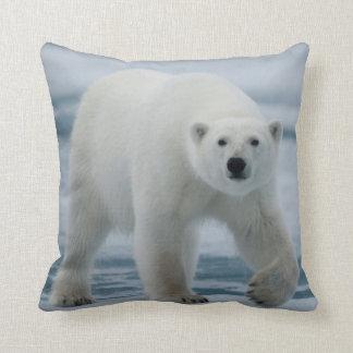 Polar Bear, Ursus Maritimus, Adult Throw Pillow