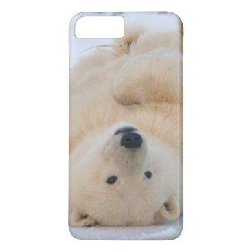 USA Themed polar bear, Ursus maritimus, cub rolling 3 iPhone 8 Plus/7 Plus Case