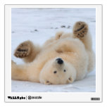 polar bear, Ursus maritimus, cub rolling 3 Wall Sticker