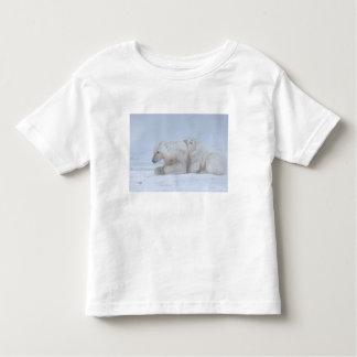polar bear, Ursus maritimus, sow with cub Toddler T-shirt