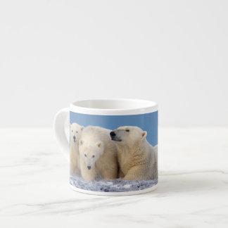 polar bear, Ursus maritimus, sow with cubs Espresso Cup