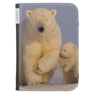 polar bear, Ursus maritimus, sow with newborn 3 Kindle 3G Cover
