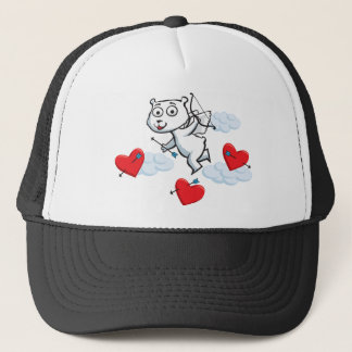 Polar Bear Valentine Trucker Hat