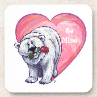 Polar Bear Valentine's Day Coaster
