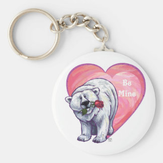 Polar Bear Valentine's Day Keychain