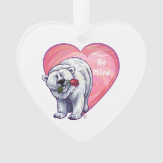 Polar Bear Valentine's Day Ornament