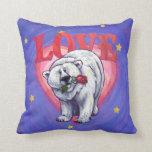 Polar Bear Valentine's Day Pillow