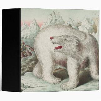 Polar Bear Vintage Poster 3 Ring Binder