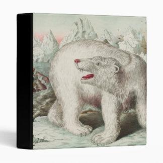 Polar Bear Vintage Poster Binder