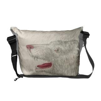Polar Bear Vintage Print Courier Bag