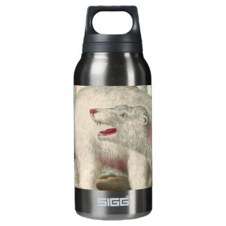 Polar Bear Vintage Print Insulated Water Bottle