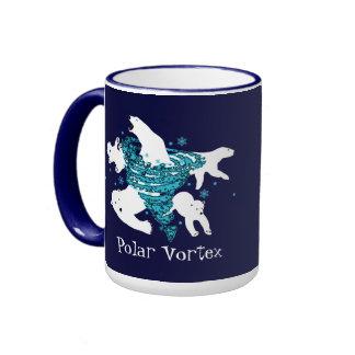 Polar Bear Vortex Ringer Coffee Mug