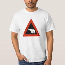 Polar Bear warning sign T-Shirt