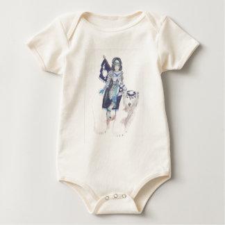 polar bear warrior baby bodysuit