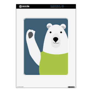 Polar Bear Waving Decals For The iPad