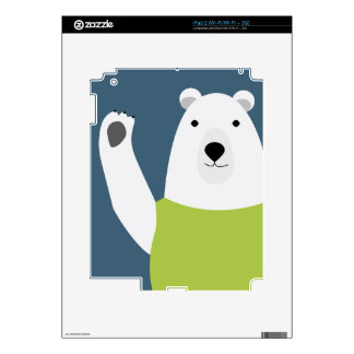 Polar Bear Waving Skin For The iPad 2
