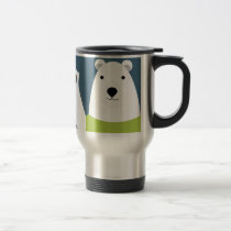 Polar Bear Waving Travel Mug