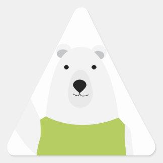 Polar Bear Waving Triangle Sticker