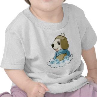 Polar bear wearing hat and scarf tee shirts