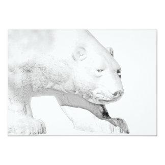 Polar Bear, White Background (5) Card