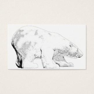 Polar Bear, White Background (6) Business Card