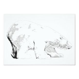 Polar Bear, White Background (6) Card