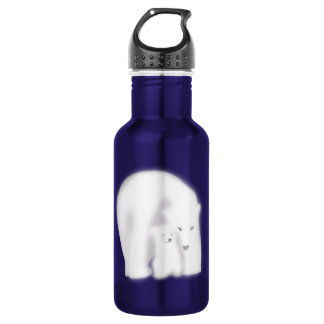 Polar bear with a baby stainless steel water bottle