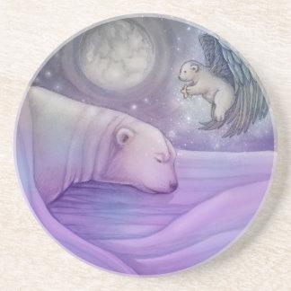 Polar Bear with Angel Coaster