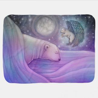Polar Bear with Angel Fleece Infant Blanket Swaddle Blankets