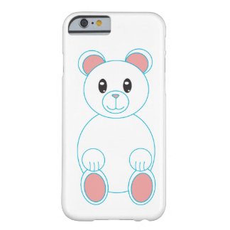 Polar Bear with Blue Outline Barely There iPhone 6 Case