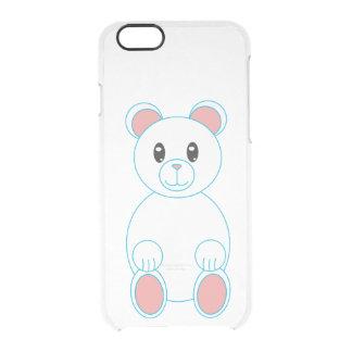 Polar Bear with Blue Outline Clear iPhone 6/6S Case