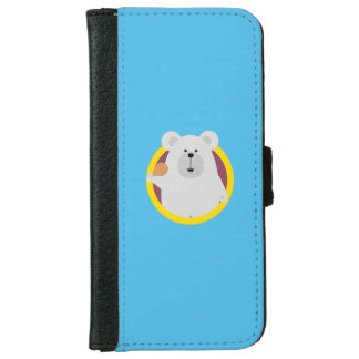 Polar Bear with Chicken leg Q1Q Wallet Phone Case For iPhone 6/6s
