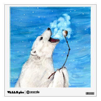 Polar Bear with Toasted Marshmallow Wall Sticker