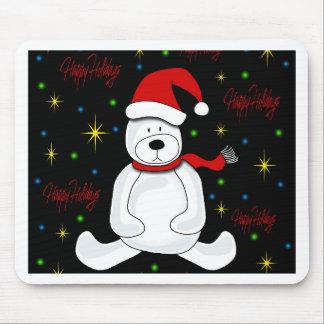 Polar bear - Xmas design Mouse Pad