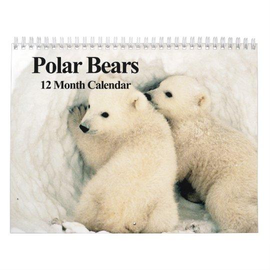 Polar Bears - 12 Month Calendar