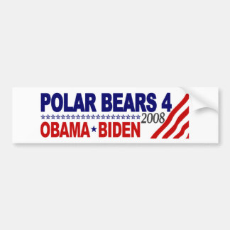 Polar Bears 4 Obama Biden 2008 Bumper Stickers