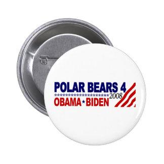 Polar Bears 4 Obama Biden 2008 Button