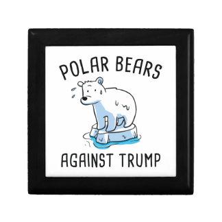 Polar Bears Against Trump Jewelry Box