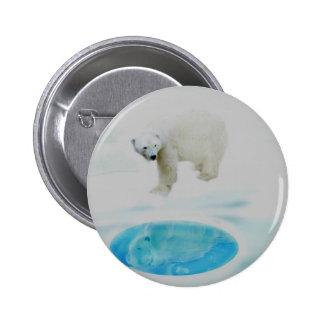 Polar bears alone button