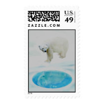 Polar bears alone postage
