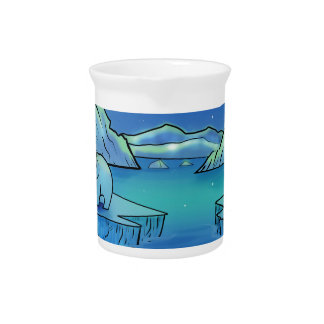 Polar Bears and Northern Lights Beverage Pitchers