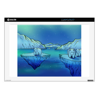 Polar Bears and Northern Lights Decal For Laptop