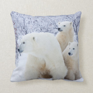 Polar Bears and Two cubs Pillows