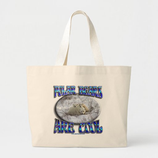 POLAR BEARS ARE COOL_MAMA WITH BABIES CANVAS BAGS