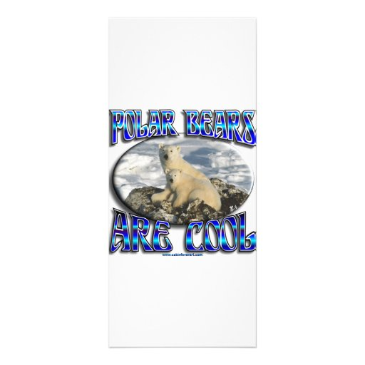 POLAR BEARS ARE COOL_ MAMA WITH BABY PERSONALIZED RACK CARD