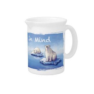 Polar Bears – Bear Us In Mind Drink Pitcher