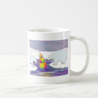 Polar Bears Birthday Cake Coffee Mug