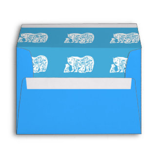 Polar Bears Blue A7 Greeting Card Envelopes