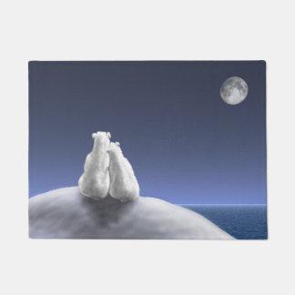 Polar Bears by Moonlight Doormat